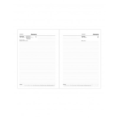 Standard A5 Day to Page Diary 2022