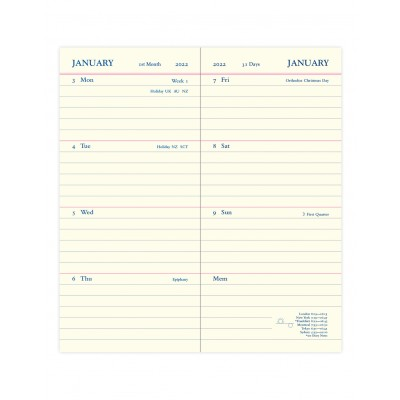 Legacy Heritage Slim Pocket Week to View with Planners Diary 2022