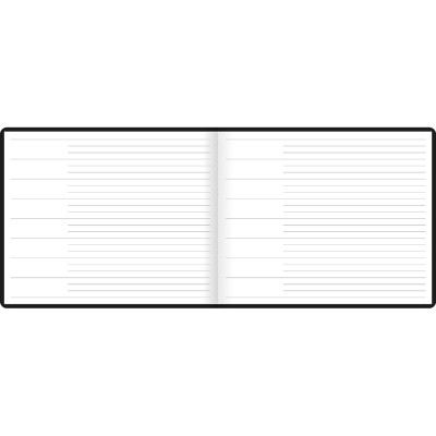 Dazzle Quarto Landscape Ruled Guest Book