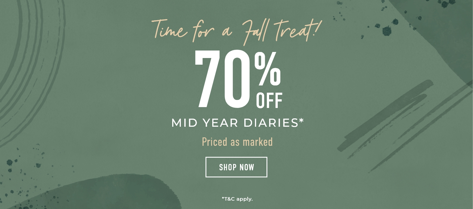 70% off Academic Diaries - Priced as marked